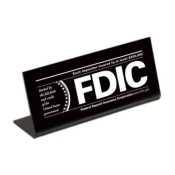 Economical FDIC Countertop Sign