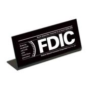 Economical FDIC Countertop Sign