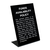 Funds Availability Policy Signs