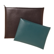 Leatherette Portfolio Zipper Wallet Bag