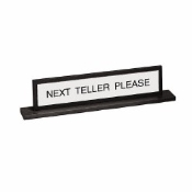 Reversible Double Mount Teller Sign