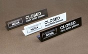 Easel Style NCUA Teller Colsed Sign