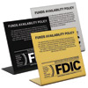 Countertop Funds Availibility Signs with FDIC Logo