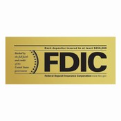 FDIC 1-Sided Outdoor Decal