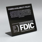 Countertop Signs w/ Regulatory Logos - Funds Availability (5th Business Day)
