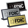 FDIC Counter Sign w/Plexiglas Base