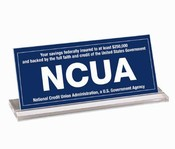 Countertop NCUA Signs
