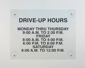 Hours Display Signs