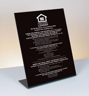 11 x 14 Black Acrylic Countertop Signs