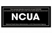 NCUA Wall Mount Signs