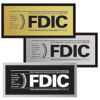 FDIC Wall Style Sign w/Backplate