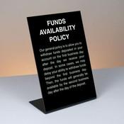 6 x 9  Plexiglas Easel Countertop Signs