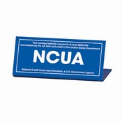 Economical Easel-Style NCUA Countertop Signs