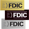 FDIC Wall Style Sign (Formica Sign Only)