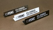 Easel Style FDIC Teller Closed Sign