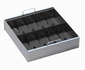 10 Compartment Steel Currency Tray
