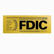 FDIC Mylar Door & Window Emblem