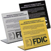 Countertop Patriot Act Signs with FDIC Logo
