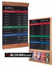 Hardwood Wall Frames with Magnetic Rate Displays