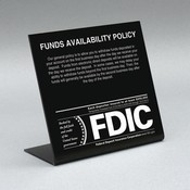 Countertop Signs w/ Regulatory Logos - Funds Availability (2nd Business Day)