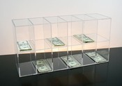 Clear Acrylic Currency Sorter Rack