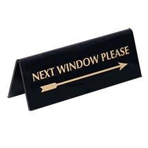Pyramid Reversible Arrow - Next Window Please Sign/Gold on Black