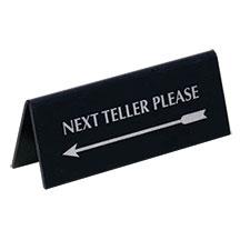 Pyramid Reversible Arrow - Next Teller Please Sign/Silver on Black