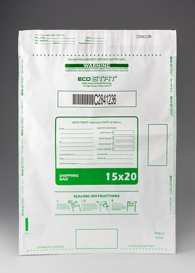 "15"" x 20""  ECO STAT Deposit Bag - White"
