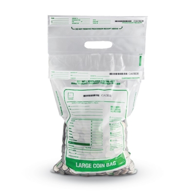 Tamper Evident Plastic Coin Deposit Bags - Clear