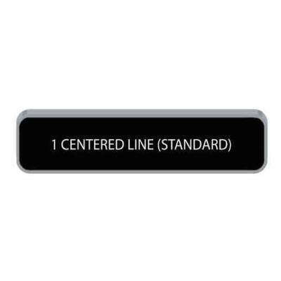 One Line Radius Nameplate