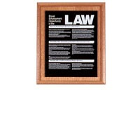 Solid Wood Compliance Frame for 1 Sign