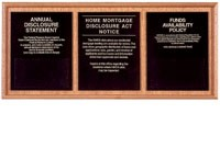 Solid Wood Compliance Frame for 3 Signs