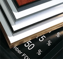 """Aluminum Rate Display Frame - 22""""W x 36""""H - Frame ONLY"""