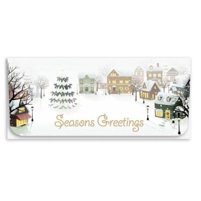 """""""Seasons Greetings"""" Currency Envelope - Village"""