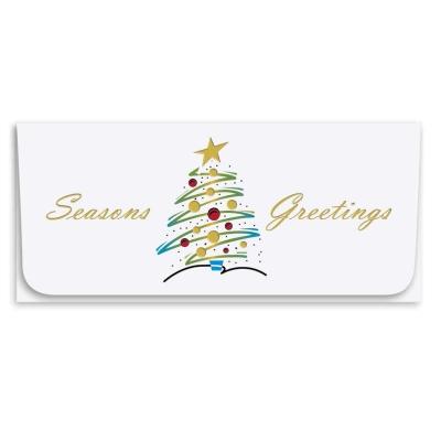 """""""Seasons Greetings"""" Currency Envelope - Tree"""