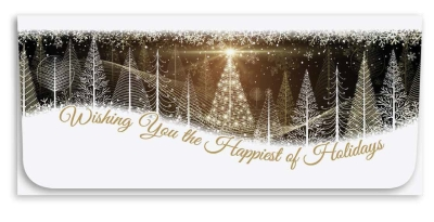 """""""Wishing You Happiest"""" Currency Envelope - Trees"""