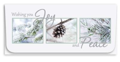 """Wishing You Joy"" Currency Envelope - Pine Cone"