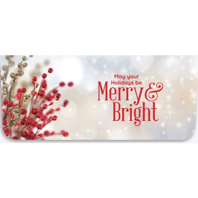 """Merry & Bright"" Currency Envelope - Berries"