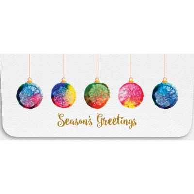 """Seasons Greetings"" Currency Envelope - Ornements"