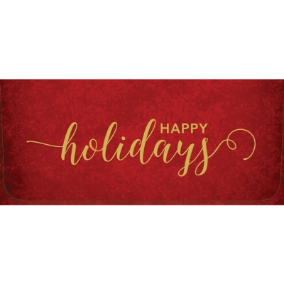 """""""Happy Holidays"""" Currency Envelope - Red / Gold"""