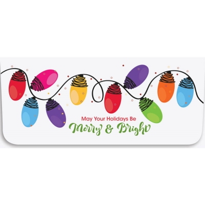 """""""Merry & Bright"""" Currency Envelope - String of Lights"""