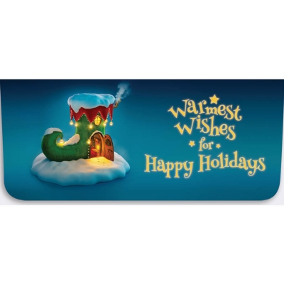 """Happy Holidays"" Currency Envelope - Elf Shoe House"