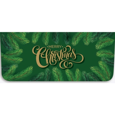 """""""Merry Christmas"""" Currency Envelope - Pine Tree Branches"""