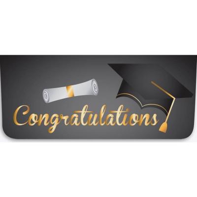 """Congratulations"" Currency Envelope - Diploma / Cap"