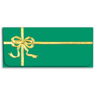 Green Gift Currency Envelope