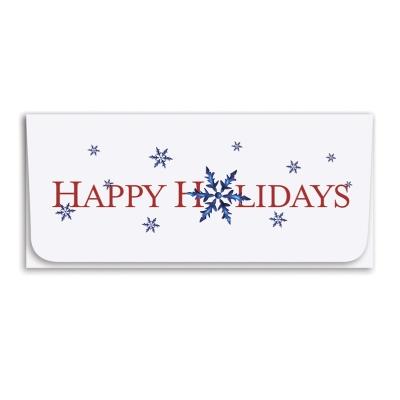 """Happy Holidays"" Currency Envelope - Snowflake"