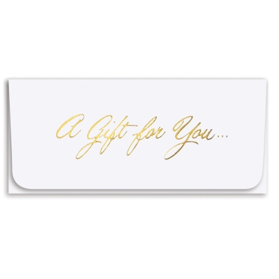 """""""A Gift For You"""" Currency Envelope - White/Gold"""