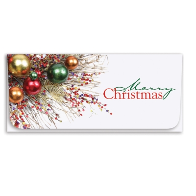 """""""Merry Christmas"""" Currency Envelope - Ornaments"""
