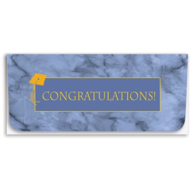 """Congratulations"" Currency Envelope - Gold/Four-Color Litho"