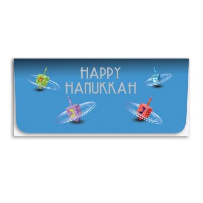 """""""Happy Hanukkah"""" Currency Envelope - Spinning Dreidel"""